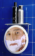 Zadro Z508 Fogless Ultra II Shower Mirror - White Frame