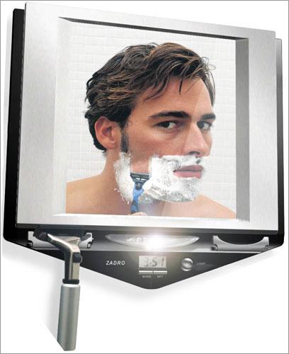 Zadro Z700SS Fogless Lighted Shaving Mirror - Stainless Steel