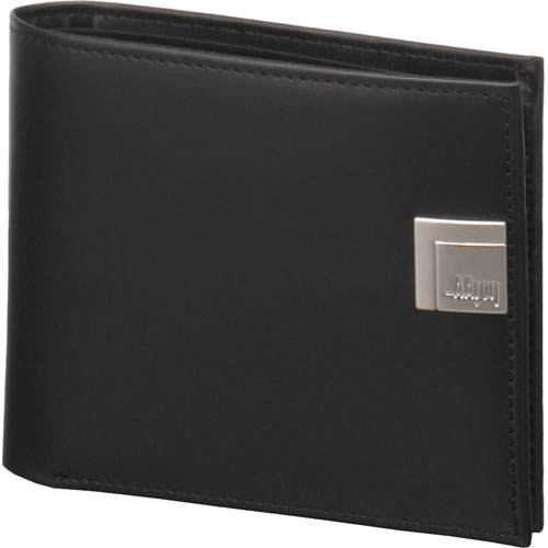 Leather Coin Purse - Aaron Irvin Design AA-WCP Leather Wallet With Coin Purse - Black