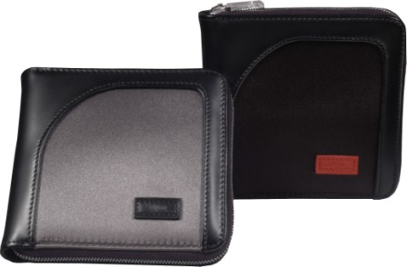 Zipper Wallets - Aaron Irvin Design AA-MZWL-GM Microfiber Zipper Wallet - Gunmetal