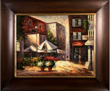 Artmasters Collection KM89511-WT54 Afternoon Break II Framed Oil Painting