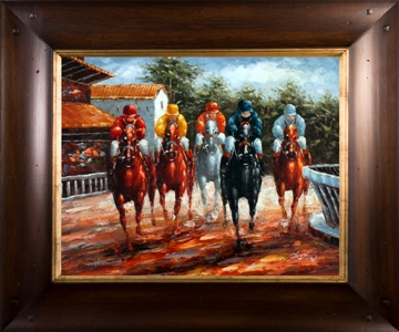 Artmasters Collection RM24901-WT54 Around the Turn Framed Oil Painting