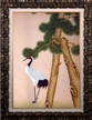 Artmasters Collection KM90108B-8610NL Asian Cranes I Framed Oil Painting