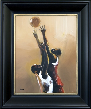 Artmasters Collection CY1094-6955G Basketball Legend II Framed Oil Painting