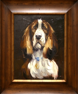 Artmasters Collection RM24867B-WW54 Best Friend I Framed Oil Painting
