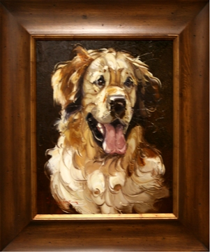 Artmasters Collection RM24868B-WW54 Best Friend II Framed Oil Painting