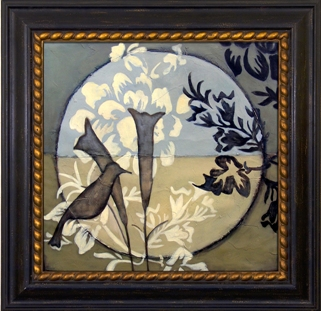 Artmasters Collection VN67245B-80539 Bird Sanctuary II Framed Oil Painting