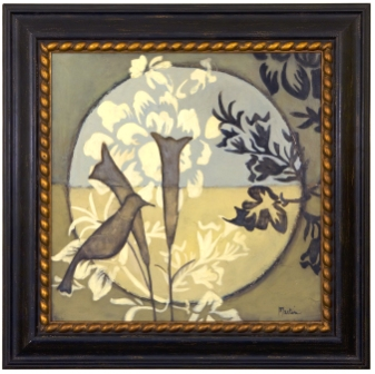 Artmasters Collection VN67246B-80539 Bird Sanctuary IV Framed Oil Painting