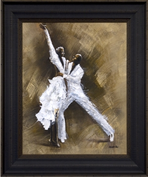 Artmasters Collection CY0952B-8603 Dance Steps II Framed Oil Painting