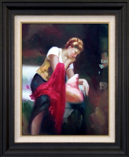 Artmasters Collection PA89621-8607NL Day Dreaming I Framed Oil Painting