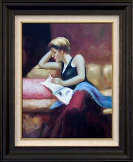 Artmasters Collection KM89622-8607NL Day Dreaming II Framed Oil Painting