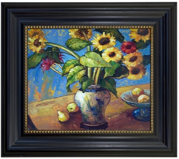Artmasters Collection KM89497-68284G Flores del Sol Framed Oil Painting