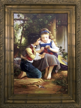 Artmasters Collection PA89176B-64290 Friends for Life Framed Oil Painting