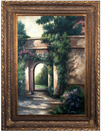 Artmasters Collection FN60482B-668DG Garden Ingress I Framed Oil Painting