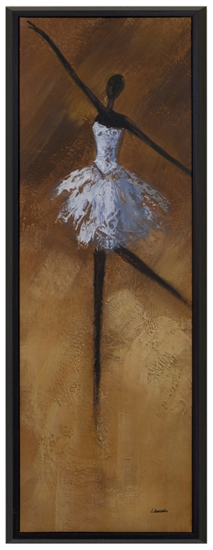 Artmasters Collection CY0281-P2005 Gracefull Ballerina I Framed Oil Painting