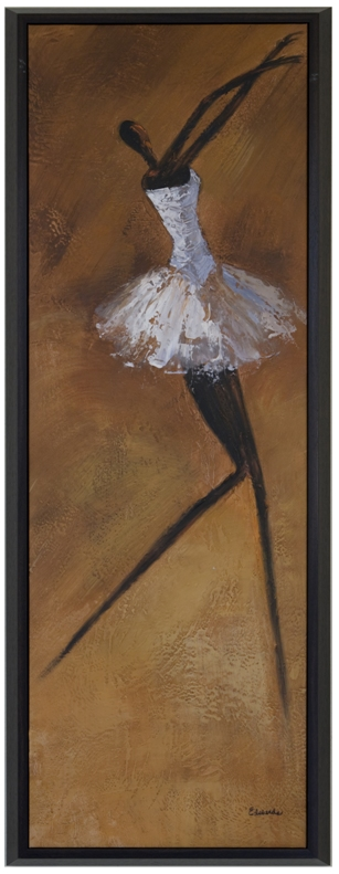 Artmasters Collection CY0282-P2005 Gracefull Ballerina II Framed Oil Painting