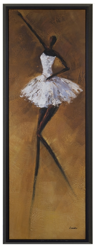 Artmasters Collection CY0283-P2005 Gracefull Ballerina III Framed Oil Painting
