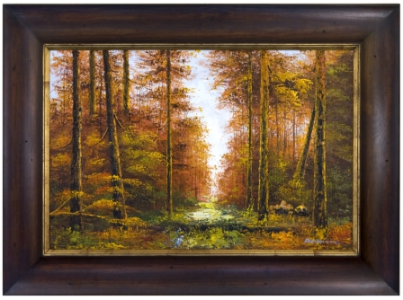 Artmasters Collection KM89337-DW54 Through the Woods Framed Oil Painting