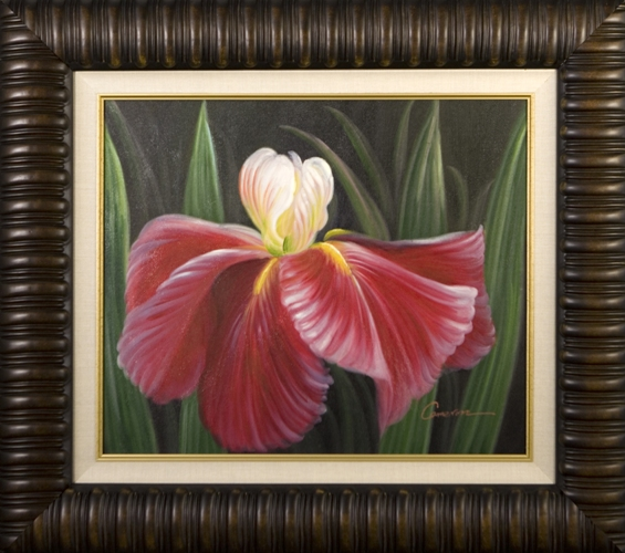 Artmasters Collection KM90076-3559NL Tropical Bloom I Framed Oil Painting