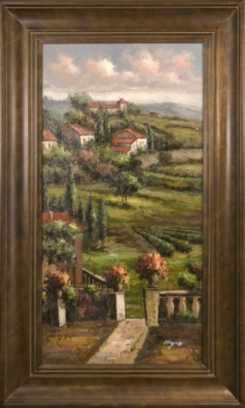 Artmasters Collection PA63109-300102 Tuscan Terarce View I Framed Oil Painting
