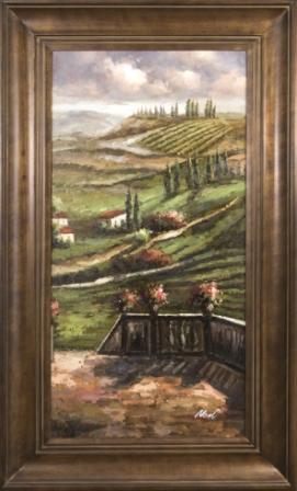Artmasters Collection PA63122-300102 Tuscan Terrace View II Framed Oil Painting