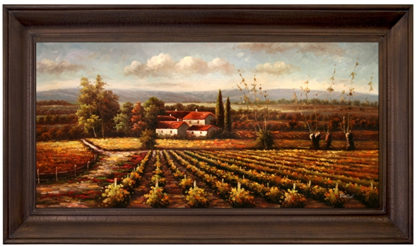 Artmasters Collection PA89724-69594 Valley View IV Framed Oil Painting