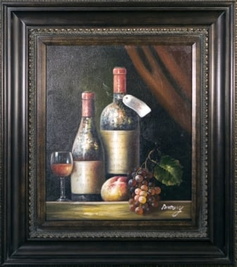 Artmasters Collection PA8959967089 Vintage Wines I Framed Oil Painting