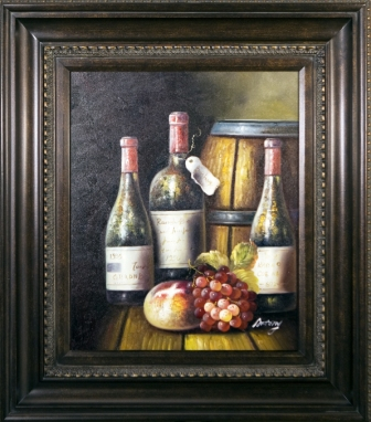 Artmasters Collection PA8959867089 Vintage Wines II Framed Oil Painting