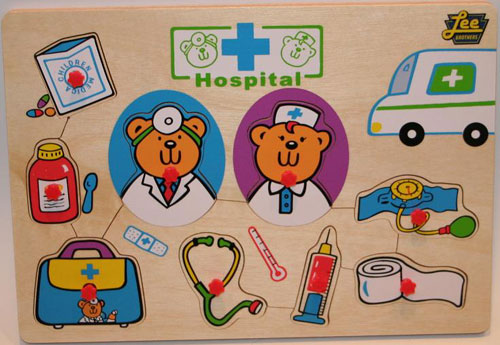Lee Brothers Toys 8 Hopsital Peg Puzzle Hopsital Peg Puzzle