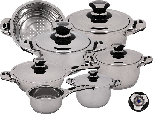Magefesa 01BXECOTHPL Ecotherm Dietetic Stainless Steel 12 Piece Cookware Set