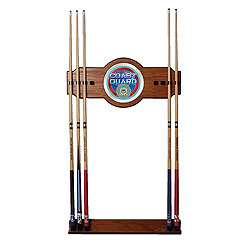 U.S. Coast Guard 2 Piece Wood and Mirror Wall Cue Rack