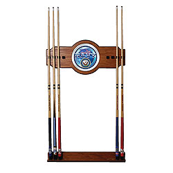 U.S. Navy 2 Piece Wood and Mirror Wall Cue Rack