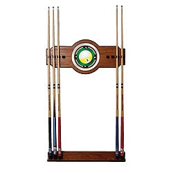 Nine Ball 2 Piece Wood and Mirror Wall Cue Rack