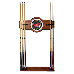 Illinois State University Wood and Mirror Wall Cue Rack