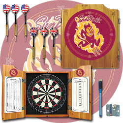 Arizona State University Dart Cabinet with Darts and Board