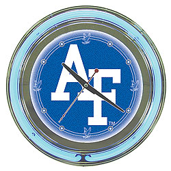Air Force Neon Clock - 14 Inch Diameter