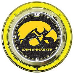 University of Iowa Neon Clock - 14 Inch Diameter