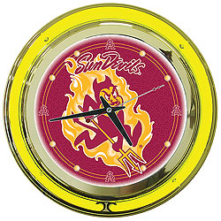 Arizona State University Neon Clock - 14 Inch Diameter