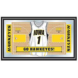 Basketball Jersey - University Of Iowa Basketball Framed Jersey Mirror