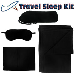 Cashmere Fabric - Daya Travel Kit - Black Cashmere And Wool Blended Fabric