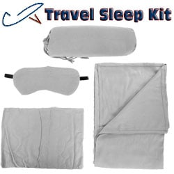 Cashmere Fabric - Daya Travel Kit - Silver Cashmere And Wool Blended Fabric