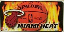 LP - 670 Miami Heat License Plate - 77002M