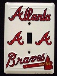 Atlanta Braves Light Switch Covers (single) Plates LS10014