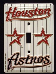 Houston Astros Light Switch Covers (single) Plates LS10029