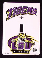 LSU Louisiana State Tigers Light Switch Covers (single) Plates LS10089