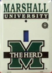 Marshall University The Herd Light Switch Covers (single) Plates LS10179