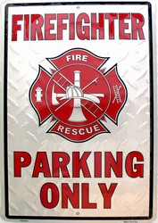 LGP - 001 12 X 18 Fire Fighter Parking Sign - PS30094