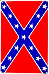LGP 014 12 X 18 Confederate Flag Sign PS30033