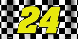 LP - 044 Jeff Gordon Nascar No.24 License Plate - 7412
