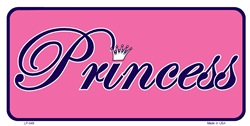 LP - 049 Princess - Pink w/ Purple Script License Plate - 2677